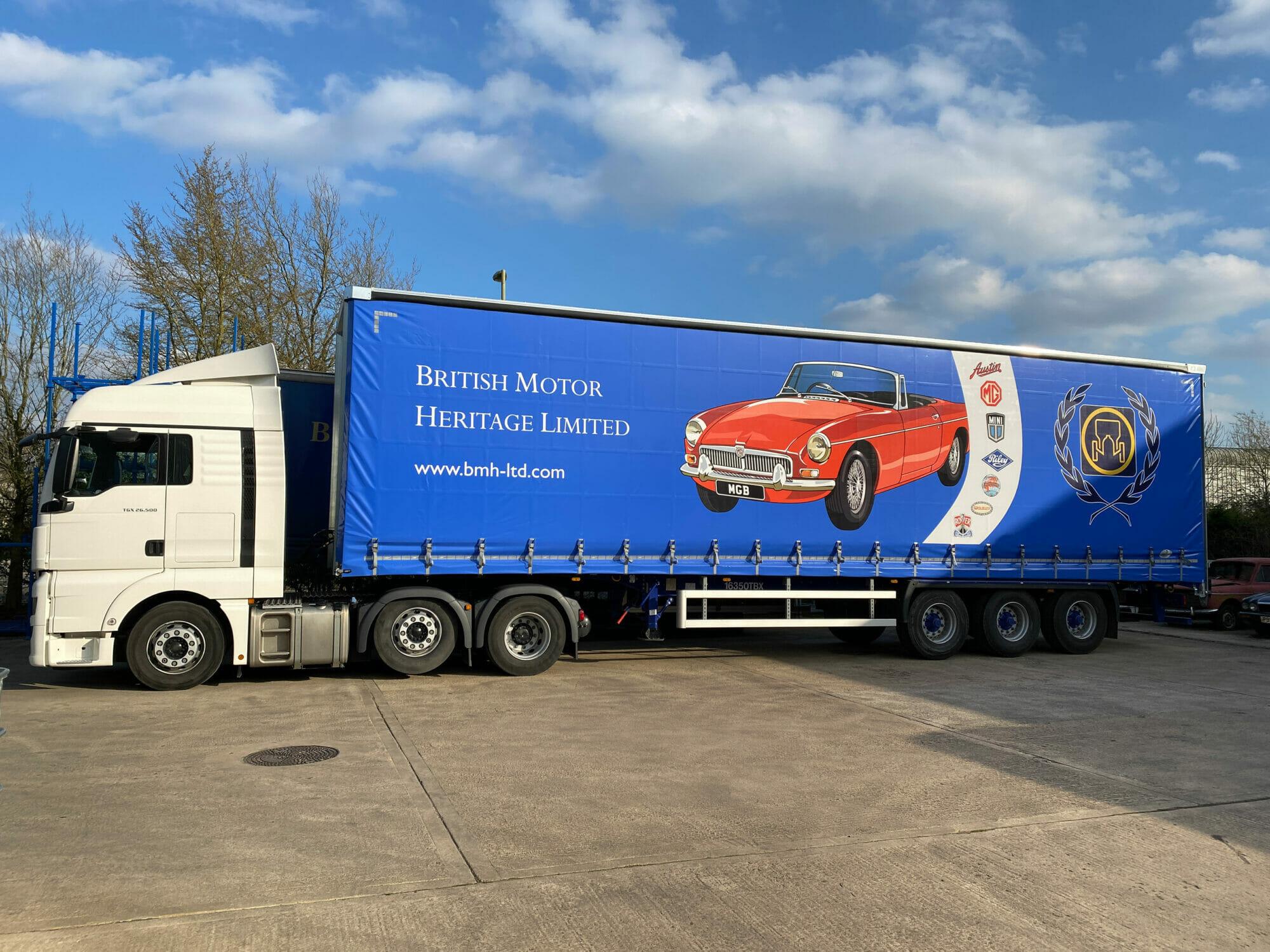 British Motor Heritage truck