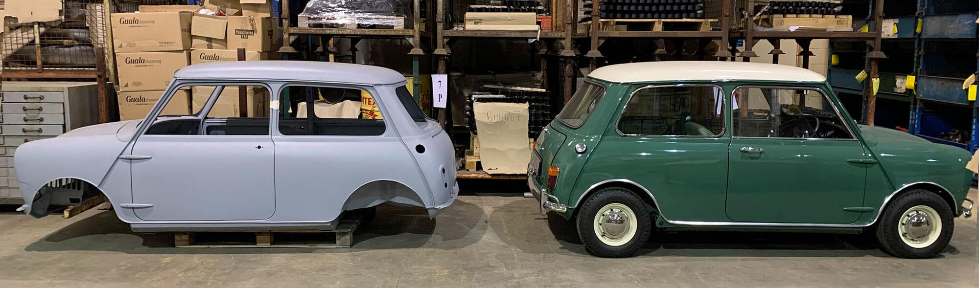 British Motor Heritage Mini Body Shells