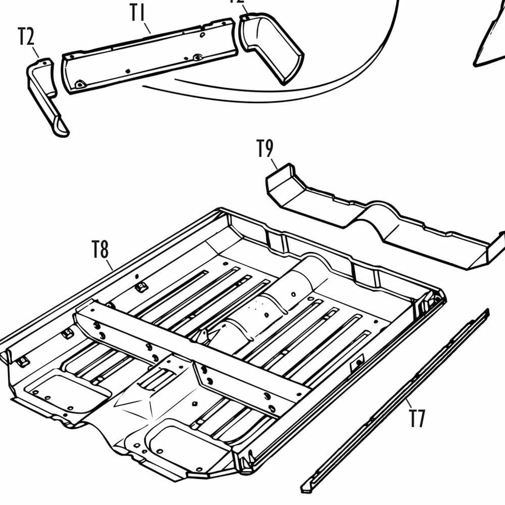 Parts-Mini Traveller Van Pickup
