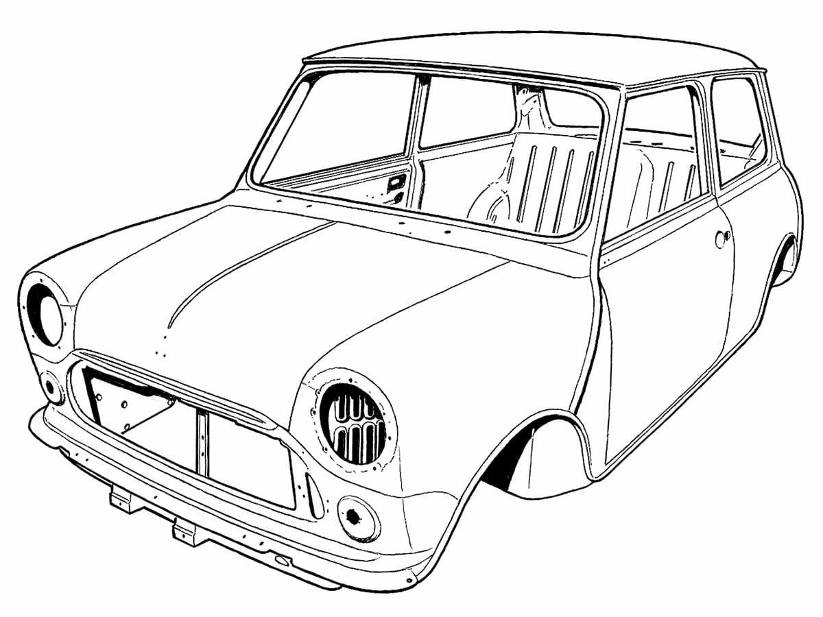 British Motor Heritage old mini drawings