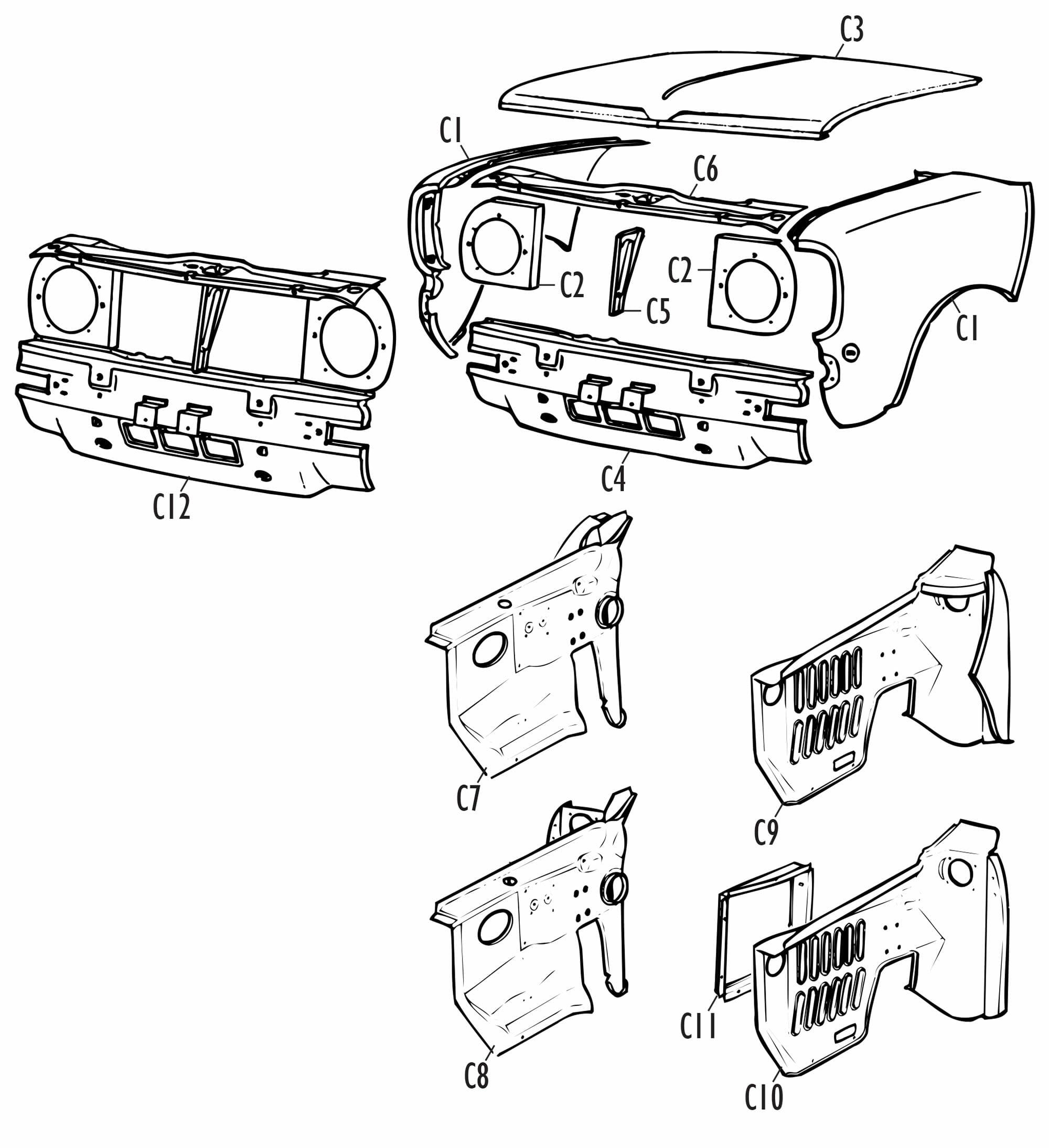Mini Parts - Clubman Specific Panels
