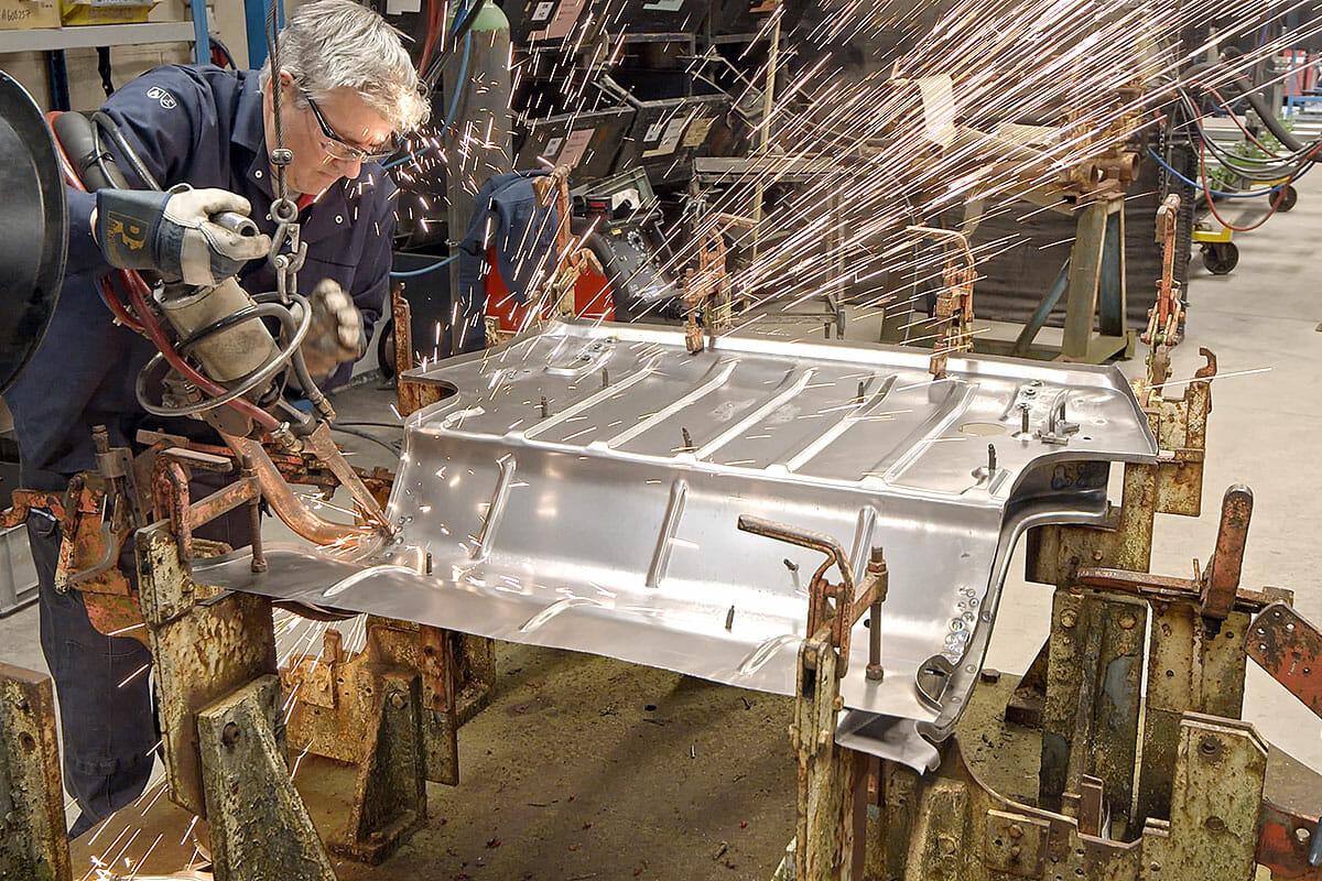 MG Midget rear floor weld