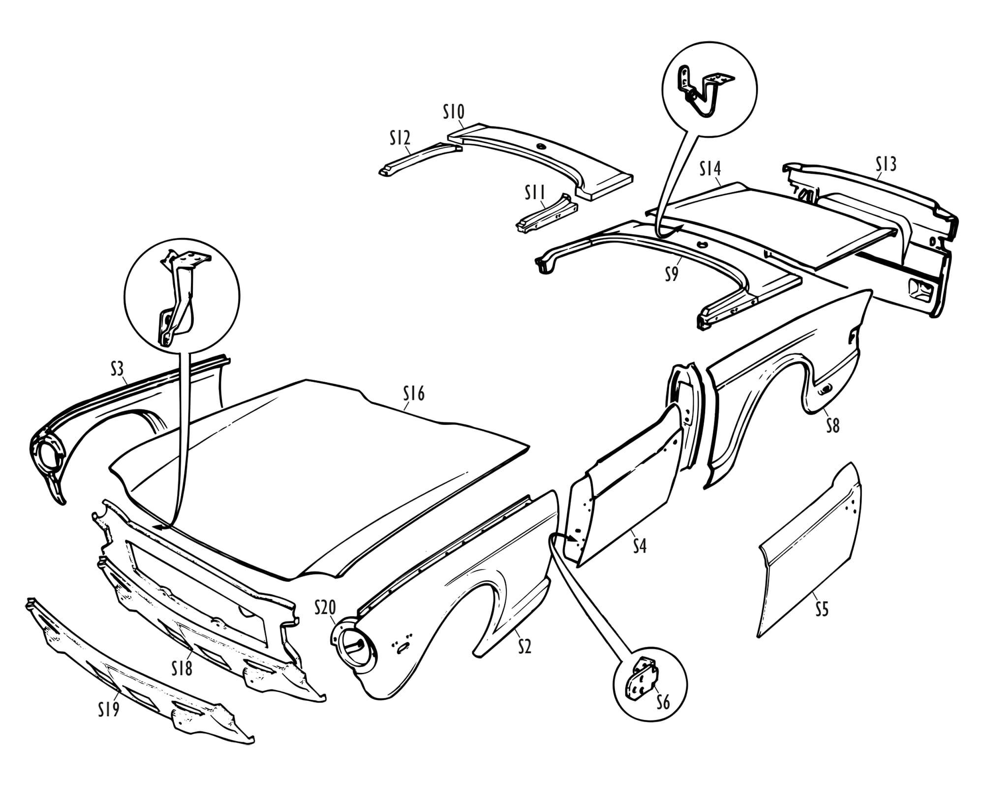 Triumph Parts - TR Skin Panels
