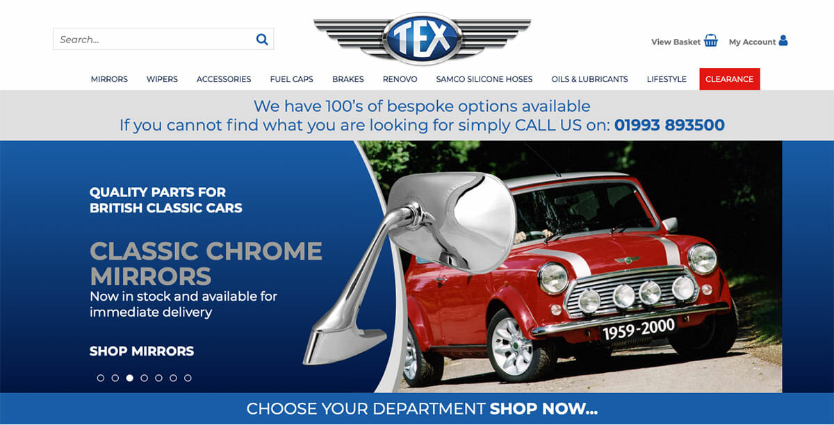 TEX Website Home Page